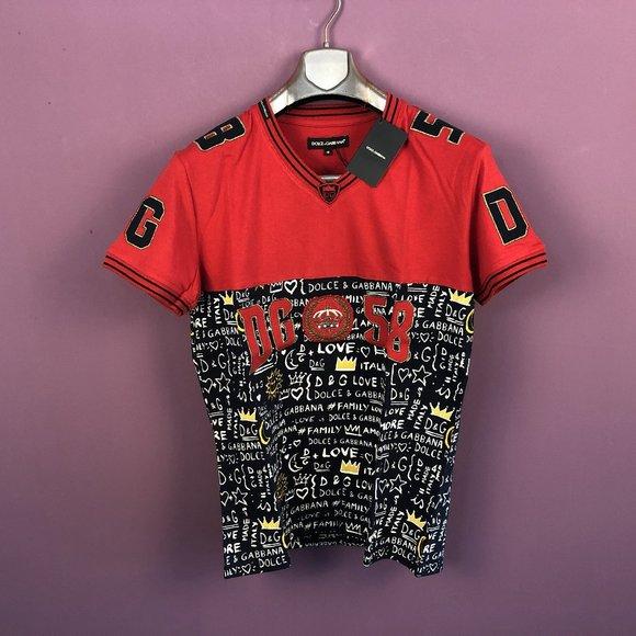 "Dolce & Gabbana Other - Dolce&Gabbana Men Red&Black T-Shirt ""M"""